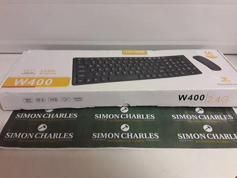 Lot 1516 W400 2.4G WIRELESS KEYBOARD AND MOUSE