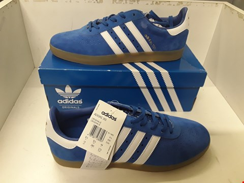 Lot 4047 PAIR OF DESIGNER BLUE SUEDE TRAINERS IN THE STYLE OF ADIDAS 350 SIZE UK 9.5