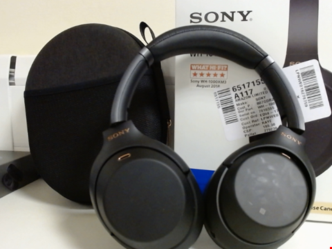 Lot 15074 SONY WH-1000XM3 WIRELESS NOISE CANCELLING HEADPHONES