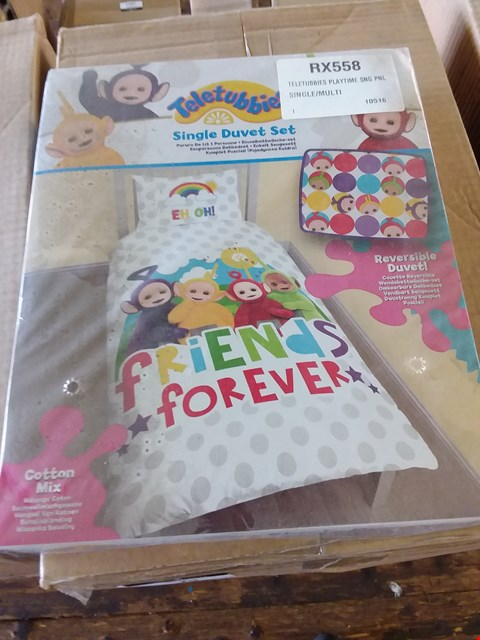 Lot 76 LOT OF 4 BOXES OF TELETUBIES PLAYTIME DUVET SETS APPROX 21